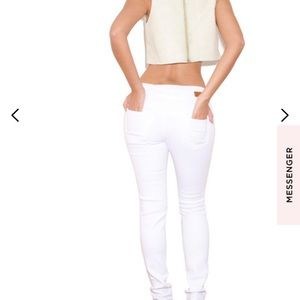 House of CB Tops - House of CB cropped leatherette top